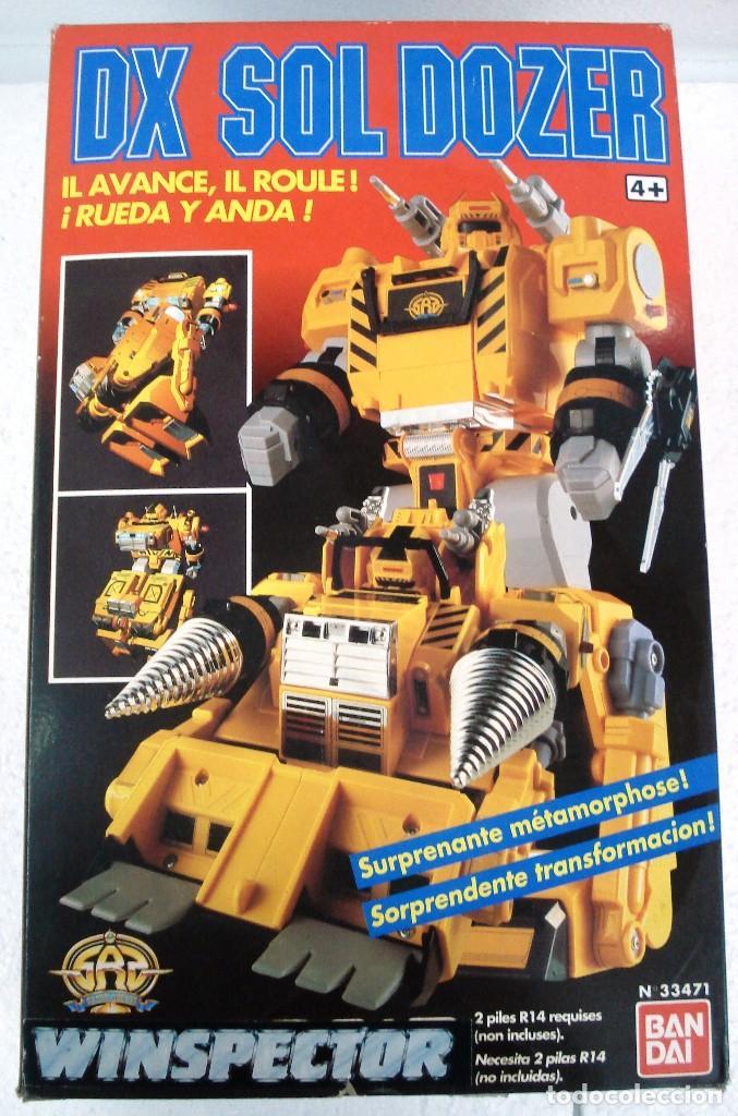 BANDAI: DX SOL DOZER WINSPECTOR -TRANSFORMES. NUEVO.AÑOS 90. (Juguetes - Figuras de Acción - Transformers)
