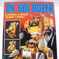 Figuras y Muñecos Transformers: BANDAI: DX SOL DOZER WINSPECTOR -TRANSFORMES. NUEVO.AÑOS 90.. Lote 82899328