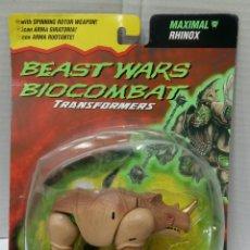 Figuras y Muñecos Transformers: BEAST WARS BIOCOMBAT TRANSFORMERS. MAXIMAL RHINOX. NUEVO EN BLISTER. KENNER. 1996. DELUXE.. Lote 85948520