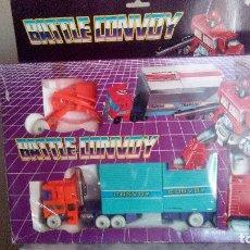 Figuras y Muñecos Transformers: MUÑECO - FIGURA OPTIMUS PRIME TRANSFORMERS G1 BATTLE CONVOY BOOTLGE ANTIGUO Y MUY RARO EN SU CAJA. Lote 89175520