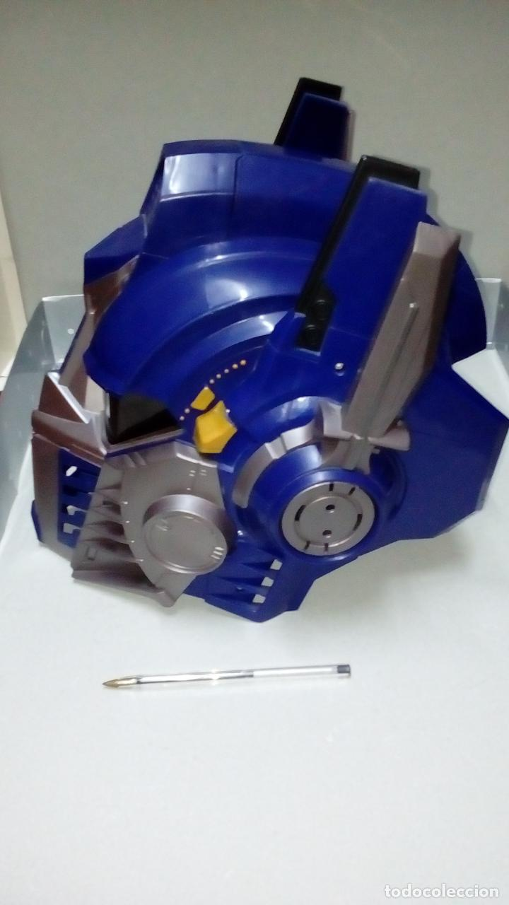 Figuras y Muñecos Transformers: -CASCO OPTIMUS PRIME CYBE - HASBRO-CON SONIDOS -MICRO CON MODULADOR DE VOZ- - Foto 2 - 93753025