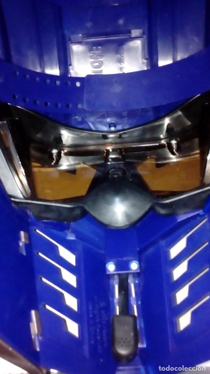 Figuras y Muñecos Transformers: -CASCO OPTIMUS PRIME CYBE - HASBRO-CON SONIDOS -MICRO CON MODULADOR DE VOZ- - Foto 5 - 93753025