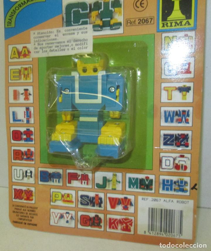 antigua figura transformable robot letra h a comprar figuras y