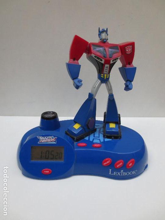 RADIO RELOJ DESPERTADOR PROYECTOR - TRANSFORMERS (Juguetes - Figuras de Acción - Transformers)