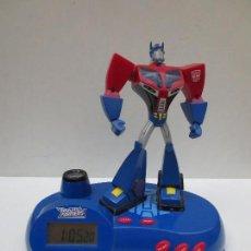Figuras y Muñecos Transformers: RADIO RELOJ DESPERTADOR PROYECTOR - TRANSFORMERS. Lote 107188959