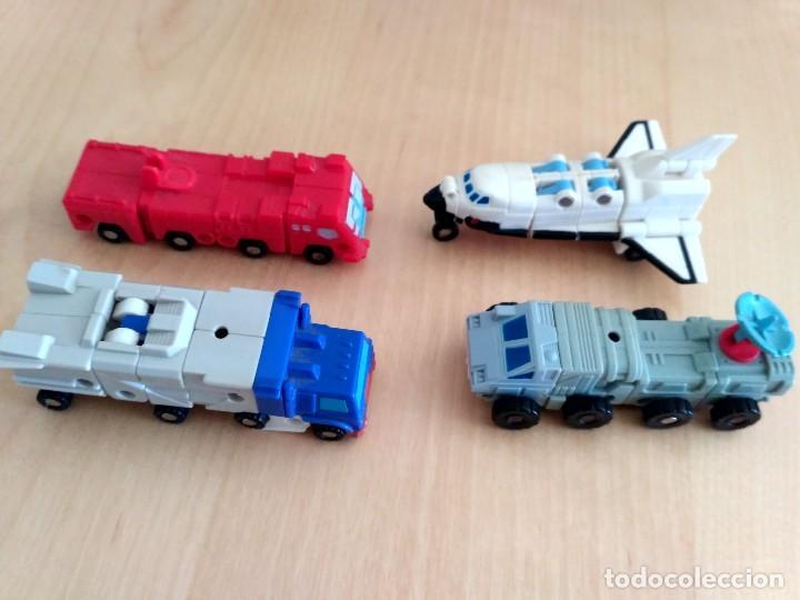 Figuras y Muñecos Transformers: Lote 4 figuras dobles Mini Transformer - Hasbro Takara años 80 - 90 - Foto 3 - 115922795