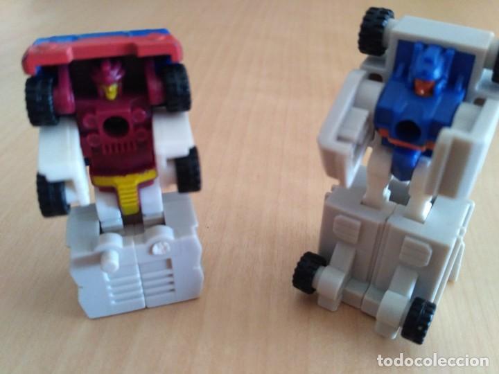 Figuras y Muñecos Transformers: Lote 4 figuras dobles Mini Transformer - Hasbro Takara años 80 - 90 - Foto 11 - 115922795