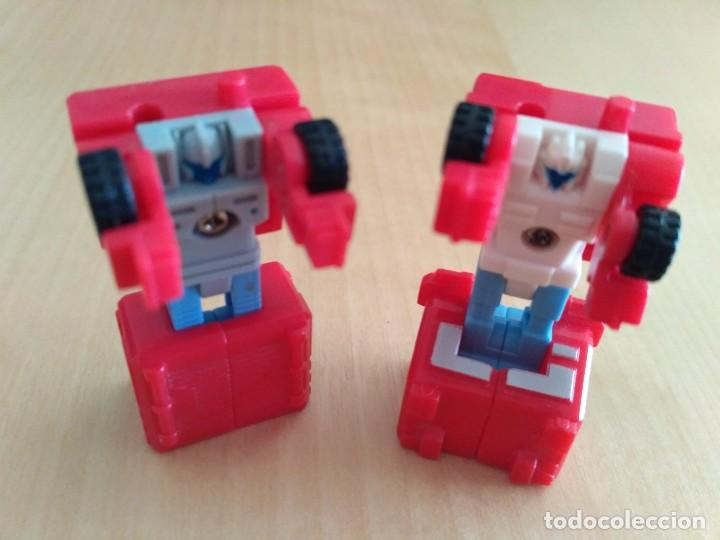 Figuras y Muñecos Transformers: Lote 4 figuras dobles Mini Transformer - Hasbro Takara años 80 - 90 - Foto 17 - 115922795
