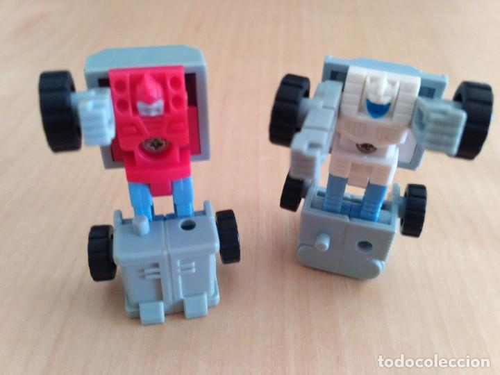 Figuras y Muñecos Transformers: Lote 4 figuras dobles Mini Transformer - Hasbro Takara años 80 - 90 - Foto 21 - 115922795