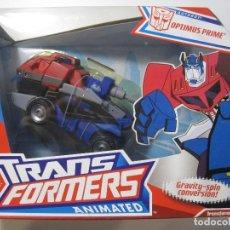 Figuras y Muñecos Transformers: TRANSFORMERS ROBOT ANIMATED OPTIMUS PRIME HASBRO AÑO 2007. Lote 120844579