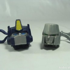 Figuras y Muñecos Transformers: OPTIMUS PRIME Y MEGATRON - PAREJA DE LLAVEROS - TRANSFORMERS G1 - 2006. Lote 121114427