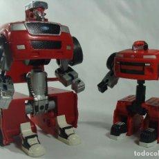 Figuras y Muñecos Transformers: BEDLAM Y LIVE WIRE - CAMIONETAS HOT WHEELS MODIFIGHTERS - FIGURAS ESTILO TRANSFORMERS - MATTEL 2006. Lote 121121343