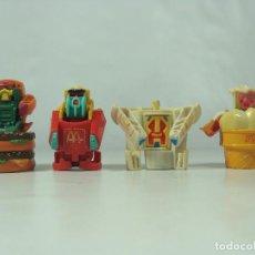 Figure e Bambolotti Transformers: TRANSFORMERS DE MCDONALDS - CHANGEABLES MCROBOTS - SET DE 4 FIGURAS DE 1988. Lote 122529279