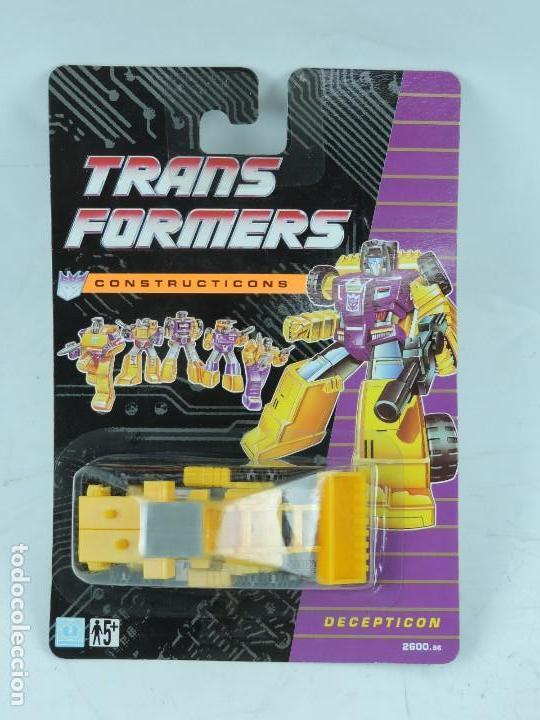 TRANSFORMERS CONSTRUCTICONS DECEPTICON, EXCAVADORA, NUEVO. SIN ABRIR. (Juguetes - Figuras de Acción - Transformers)