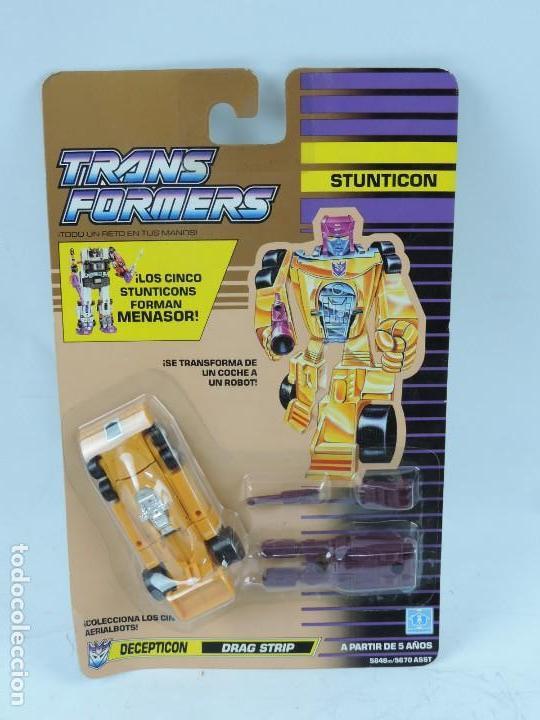 BLISTER TRANSFORMERS, 1991, STUNTICON DECEPTICON DRAG STRIP, SIN ABRIR, MUY RARO. (Juguetes - Figuras de Acción - Transformers)