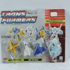Figuras y Muñecos Transformers: BLISTER TRANSFORMERS MICROMASTER AIR PATROL DE HASBRO, AUTOBOT, AÑO 1990, SIN ABRIR.. Lote 126448371