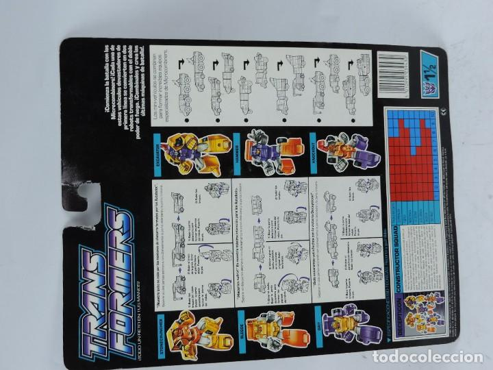 Figuras y Muñecos Transformers: ANTIGUO TRANSFORMER DECEPTICON MICROCOMBINER, CONSTRUCTOR SQUAD, FABRICADO POR HASBRO. EN PERFECTO E - Foto 2 - 126522007