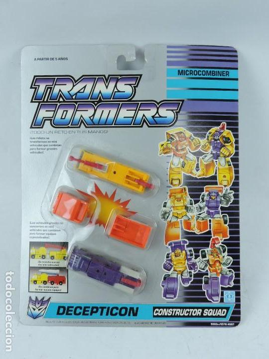 ANTIGUO TRANSFORMER DECEPTICON MICROCOMBINER, CONSTRUCTOR SQUAD, FABRICADO POR HASBRO. EN PERFECTO E (Juguetes - Figuras de Acción - Transformers)