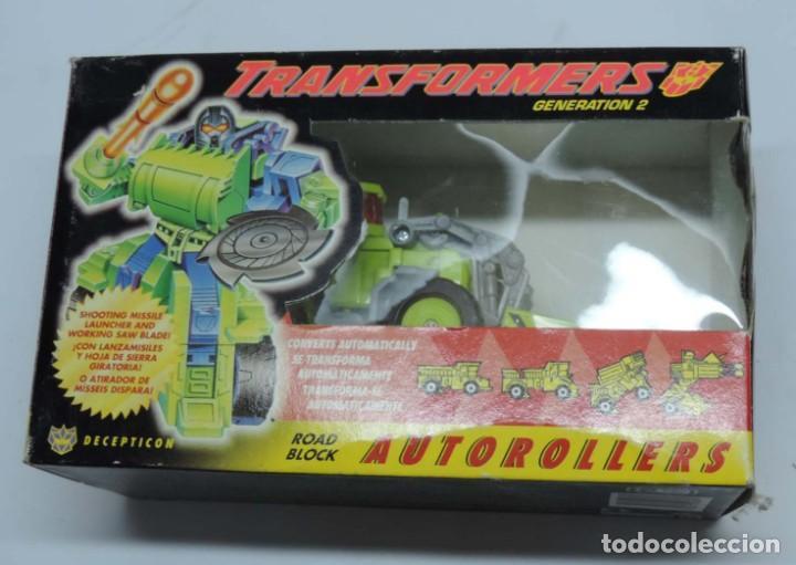 ANTIGUO TRANSFORMER DECEPTICON DECEPTICON ROAD BLOCK, AUTOROLLERS, GENERATION 21 FABRICADO POR HASBR (Juguetes - Figuras de Acción - Transformers)