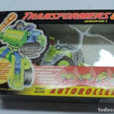 Figuras y Muñecos Transformers: ANTIGUO TRANSFORMER DECEPTICON DECEPTICON ROAD BLOCK, AUTOROLLERS, GENERATION 21 FABRICADO POR HASBR. Lote 131888134