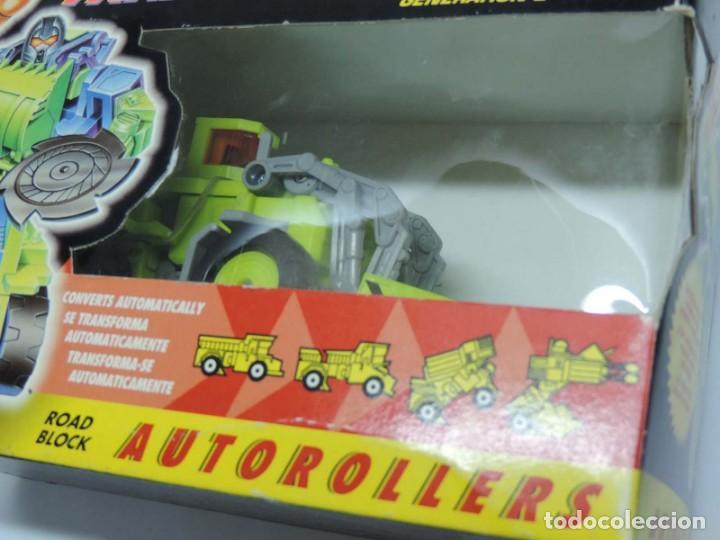 Figuras y Muñecos Transformers: ANTIGUO TRANSFORMER DECEPTICON DECEPTICON ROAD BLOCK, AUTOROLLERS, GENERATION 21 FABRICADO POR HASBR - Foto 2 - 131888134
