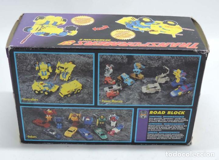 Figuras y Muñecos Transformers: ANTIGUO TRANSFORMER DECEPTICON DECEPTICON ROAD BLOCK, AUTOROLLERS, GENERATION 21 FABRICADO POR HASBR - Foto 5 - 131888134