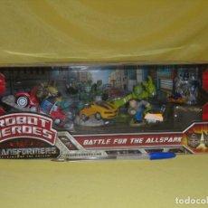 Figuras y Muñecos Transformers: TRANSFORMERS ROBOT HEROES, BATTLE FOR THE ALLSPARK DE HASBRO, AÑO 2009, NUEVO SIN ABRIR.. Lote 134817482