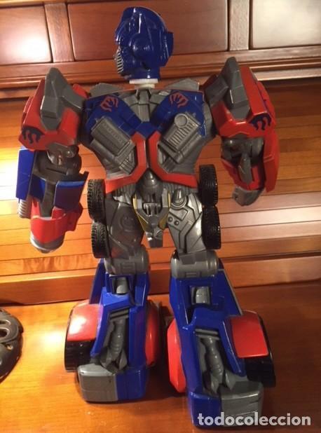 Figuras y Muñecos Transformers: ROBOT TRANSFORMER HASBRO 2008 OPTIMUS PRIME BOTELLA 28CMX23CM15CM - Foto 5 - 136745902