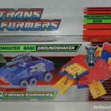 Figuras y Muñecos Transformers: TRANSFORMERS MICROMASTER BASE GROUNDSHAKER. 1990 MB ESPAÑA. AUTOBOT. EL TANQUE SE TRANSFORMA EN BASE. Lote 139706106