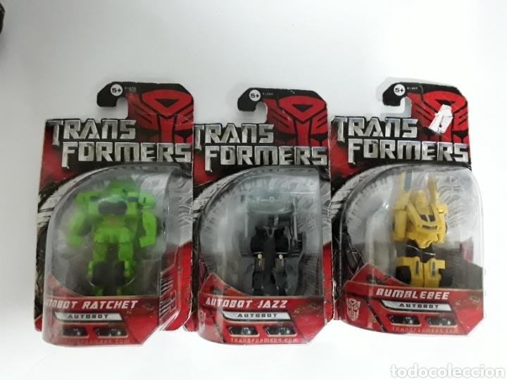 LOTE DE 3 TRANSFORMER NUEVOS EN BLISTER. LIQUIDACIÓN !!! (Juguetes - Figuras de Acción - Transformers)