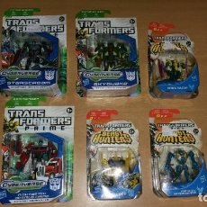 Figuras y Muñecos Transformers: 6 FIGURAS TRANSFORMERS PRIME BLISTERS OPTIMUS PRIME BUMBLEBEE STARSCREAM PRECINTADOS. Lote 139896290
