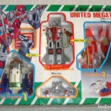 Figuras y Muñecos Transformers: ANTIGUA CAJA BOOTLEG TIPO TRANSFORMERS ROBOT CONVERTIBLE UNITED MEGATANK DELUXE CHOGOKIN. AÑOS 80. Lote 143986394