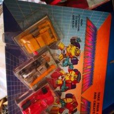 Figuras y Muñecos Transformers: BLISTER TIPO TRANSFORMERS MICROMASTER CONSTRUCTION PATROL COLECCIONABLES AÑO 1990 A ESTRENAR. Lote 202449895