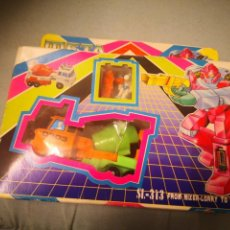 Figuras y Muñecos Transformers: CAJA META MORPHS TIPO CAMIÓN CONCRETERA TRANSFORMER. AUTOBOT BEST FOCE MODELO SL-313 TAIWAN. Lote 145640986