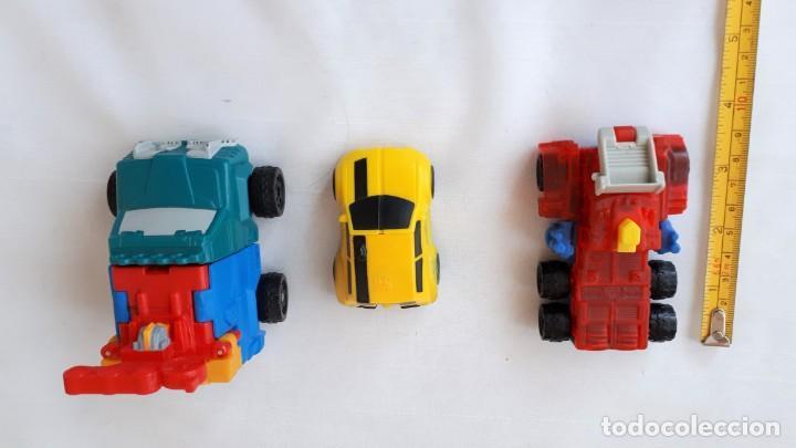 LOTE DE 3 VEHICULOS TRANSFORMERS (Juguetes - Figuras de Acción - Transformers)