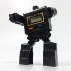 Figuras y Muñecos Transformers: RELOJ TRANSFORMER ROBOT NEGRO - SIN CORREA -AÑOS 80 - QUARTZ WATCH. Lote 181423631