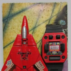 Figuras y Muñecos Transformers: TRANSFORMERS AVIÓN TOMCAT F-14 + RELOJ, BOOTLEG, MADE IN SPAIN. Lote 161266698