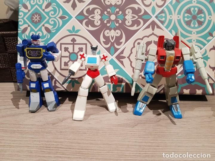LOTE TRANSFORMERS PVC HEROES DE CYBERTRON SOUNDWAVE STARSCREAM RACHET HASBRO (Juguetes - Figuras de Acción - Transformers)