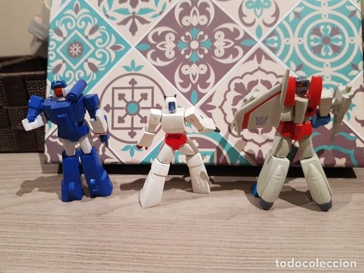 Figuras y Muñecos Transformers: LOTE TRANSFORMERS PVC HEROES DE CYBERTRON SOUNDWAVE STARSCREAM RACHET HASBRO - Foto 2 - 165626798