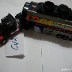 Figuras y Muñecos Transformers: ANTIGUO Y ESPECTACULAR TRANSFORMERS CAMION CON TRAILER CONTENEDOR Y CAÑON CON PROYECTILES. Lote 172960322
