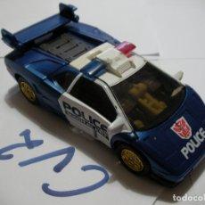 Figuras y Muñecos Transformers: ANTIGUO TRANSFORMERS COCHE POLICIA. Lote 172960995