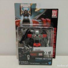 Figuras y Muñecos Transformers: TRANSFORMERS TITANS RETURN AUTOBOT DABURU & TWINFERNO - DELUXE CLASS. Lote 173206267