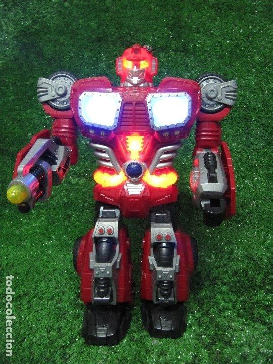 ROBOT TRANSFORMERS LUZ SONIDO HAPPY KID TOY 2008 36CM (Juguetes - Figuras de Acción - Transformers)
