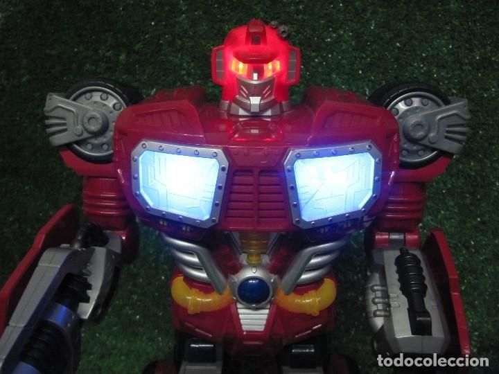 Figuras y Muñecos Transformers: Robot Transformers Luz sonido Happy Kid Toy 2008 36CM - Foto 3 - 176172339