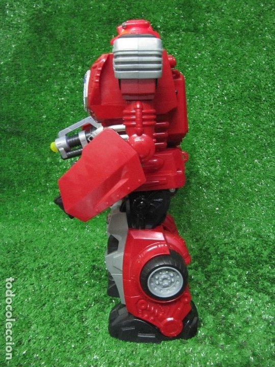 Figuras y Muñecos Transformers: Robot Transformers Luz sonido Happy Kid Toy 2008 36CM - Foto 6 - 176172339