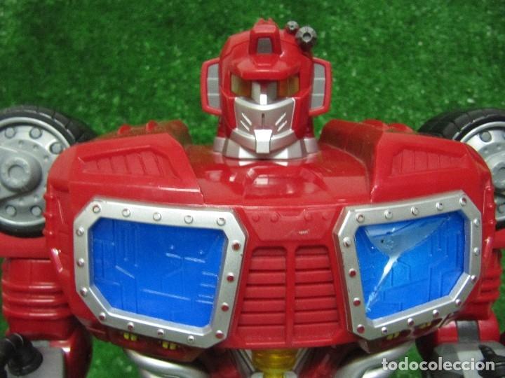 Figuras y Muñecos Transformers: Robot Transformers Luz sonido Happy Kid Toy 2008 36CM - Foto 11 - 176172339
