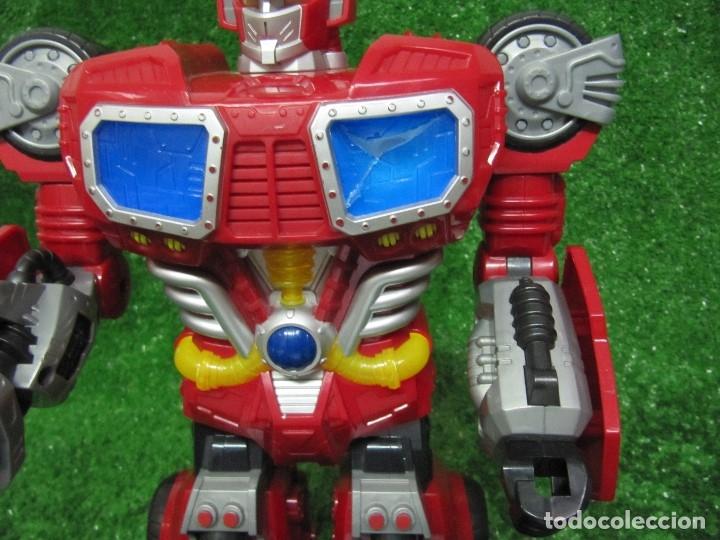 Figuras y Muñecos Transformers: Robot Transformers Luz sonido Happy Kid Toy 2008 36CM - Foto 16 - 176172339