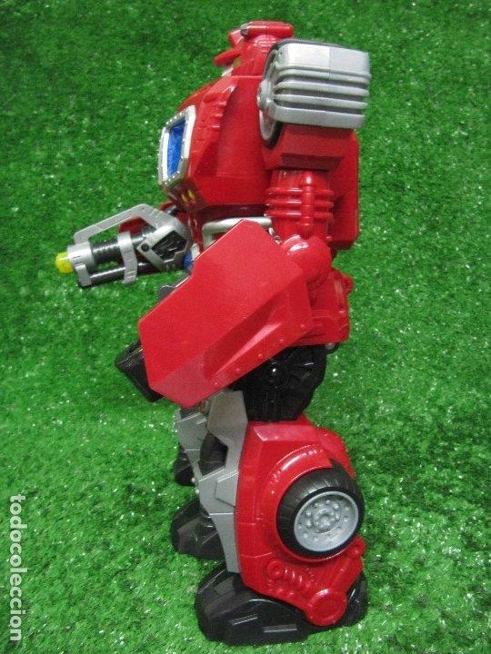 Figuras y Muñecos Transformers: Robot Transformers Luz sonido Happy Kid Toy 2008 36CM - Foto 18 - 176172339