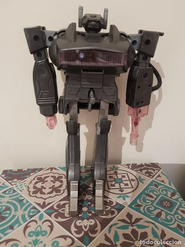 ROBOT TRANSFORMER TRANSFORMABLE EN PISTOLA CLON EN GRIS DE SHOCKWAVE FABRICADO POR RADIOSHACK (Juguetes - Figuras de Acción - Transformers)
