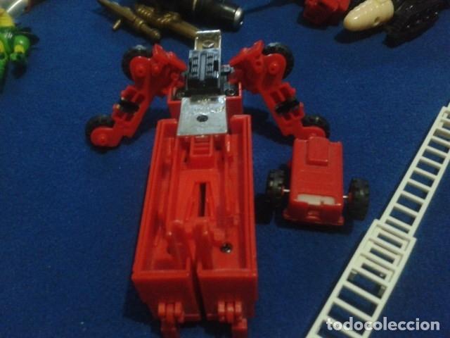 Figuras y Muñecos Transformers: FIGURA TRANSFORMERS G1 KO ( MC TOYS - CAMION DE BOMBEROS CON MECANISMO DE TRACCION ) DE LOS 80 - Foto 6 - 177322139
